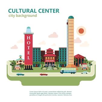 Centro cultural ciudad de fondo