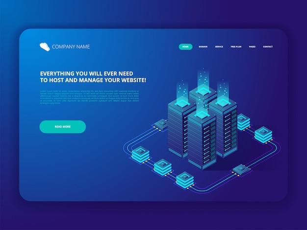 Centro de datos cloud computer connection hosting server base de datos.