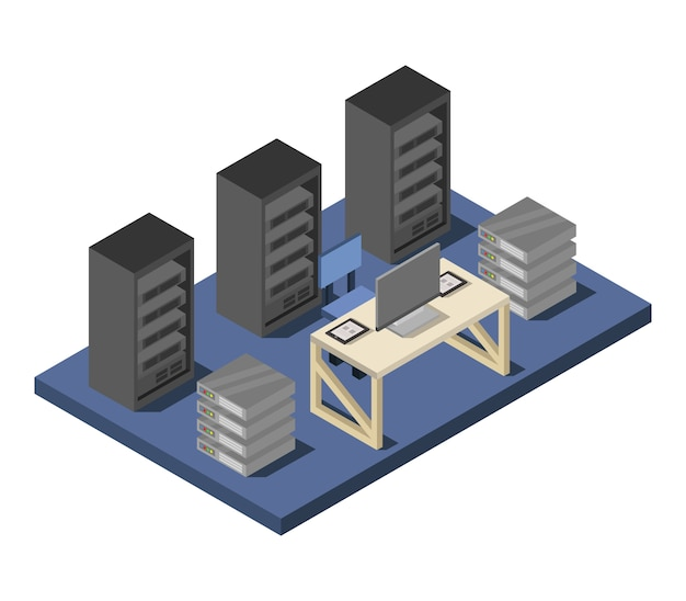 Centro de datos isométrico