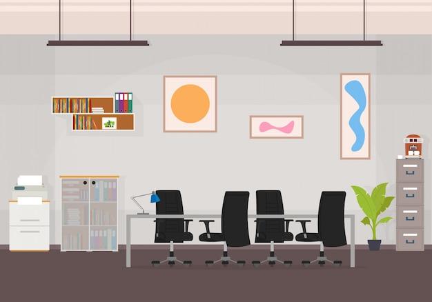 Centro de trabajo creativo de la oficina
