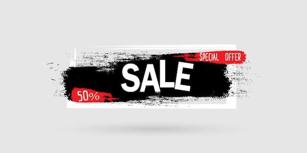 Cepillo banner de venta. diseño de diseño de banner.