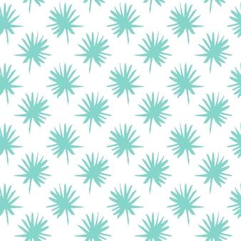 Cepillo de hoja de palma de patrones sin fisuras. ilustración de vector de fondo de plantas tropicales de pintura dibujada a mano.