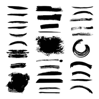 Cepillo de tinta trazo diferente grunge elemento creativo pincel