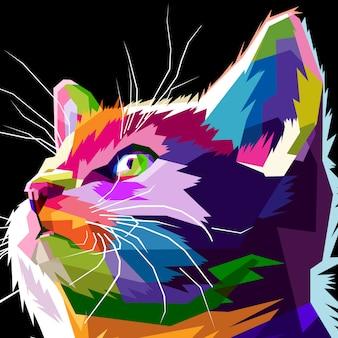 Cerca de gato fresco