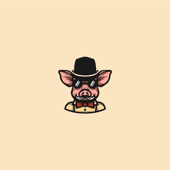 Cerdo caballero clip art
