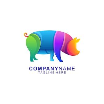 Cerdo colorido