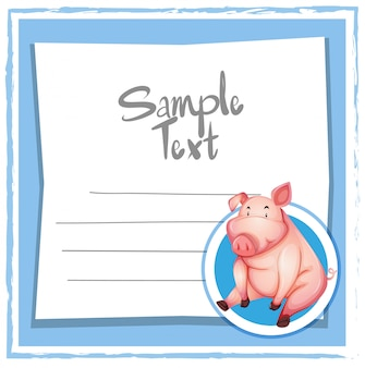 Cerdo en nota azul