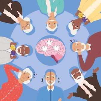 Cerebro de pacientes con alzheimer