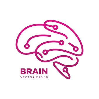 Cerebro silueta símbolo de diseño
