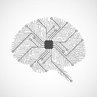 Cerebros tecnológicos. placa de circuito.