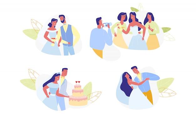 Ceremonia de bodas conjunto aislado