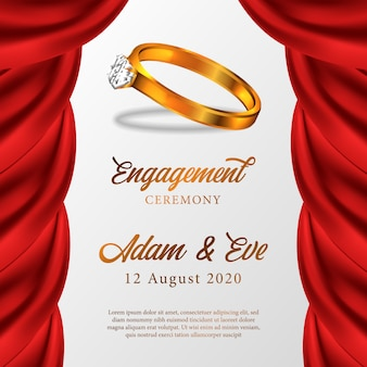 Ceremonia de compromiso del anillo de oro