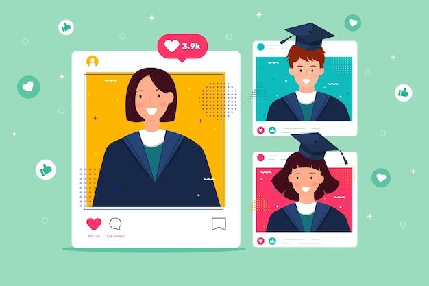 Ceremonia de graduación en plataforma en línea