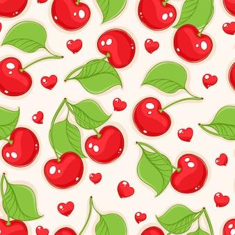 Cerezas y corazones