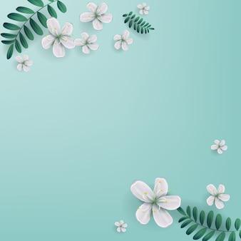 Cerezos en flor con espacio de copia