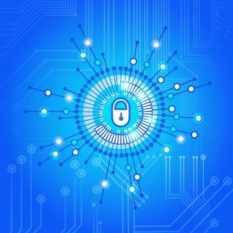 Cerrado cerrado concepto de tecnología de acceso de protección de datos y seguridad