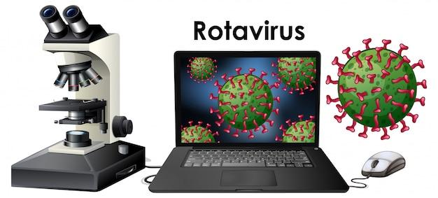 Cerrar objeto aislado de virus rotavirus
