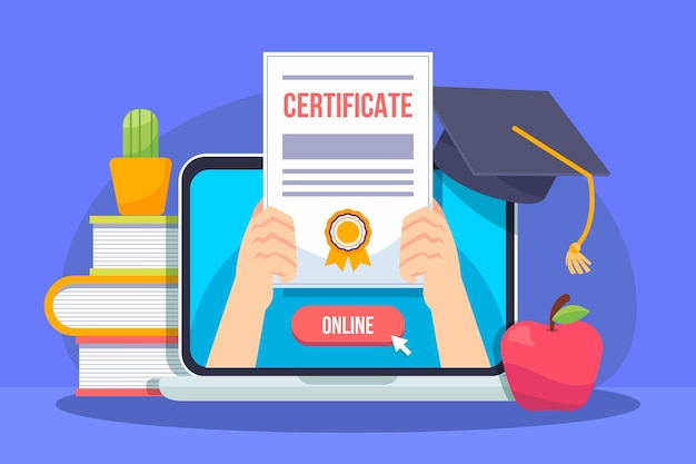 Certificación en línea con computadora