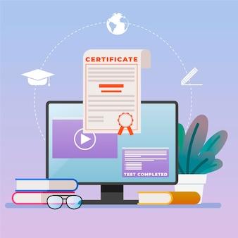Certificación en línea para estudiantes que realizan exámenes desde casa