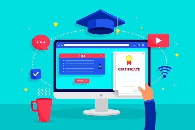 Certificación en línea con gorra