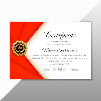 Certificado abstracto de plantilla de agradecimiento