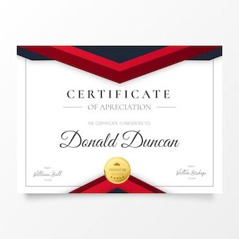 Certificado de agradecimiento moderno