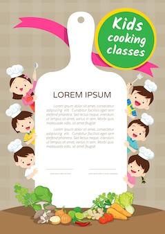 Certificado de clase de cocina para niños