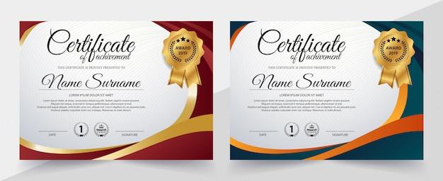 Certificado creativo de plantilla de premio de apreciación