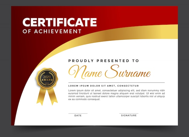 Certificado de diploma con diseño moderno.
