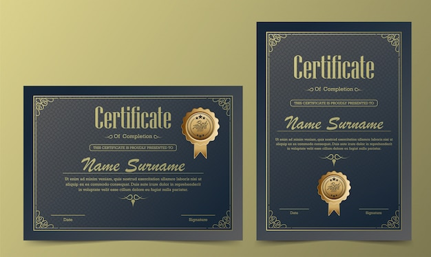 Certificado diploma moneda frontera