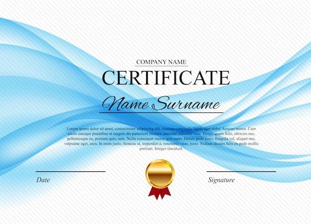 Certificado de diploma de plantilla