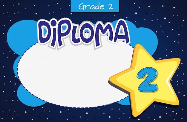 Certificado de diploma de segundo grado