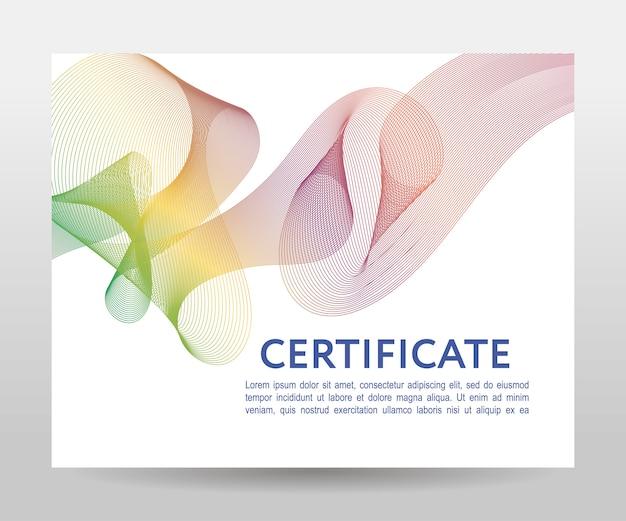 Certificado. diplomas de plantilla, moneda. marco degradado Vector Premium