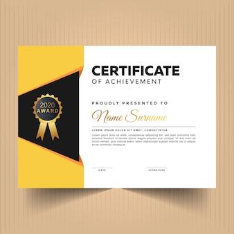 Certificado de diseño de apreciación