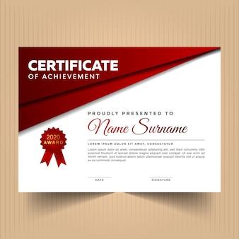 Certificado de diseño con líneas doradas