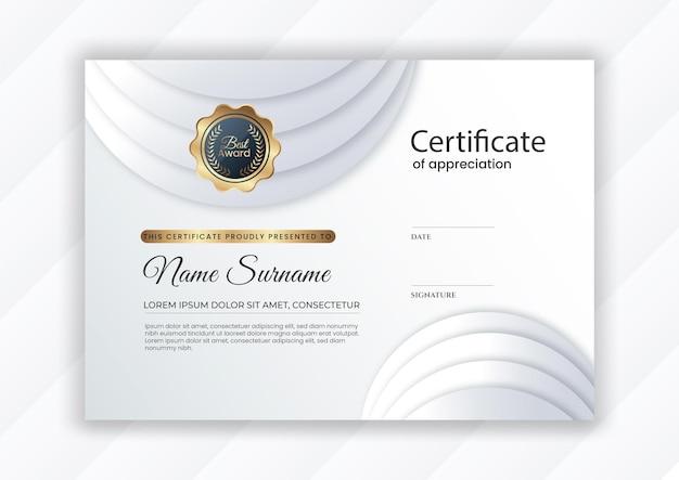 Certificado con diseño moderno