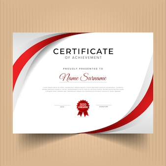 Certificado de diseño de plantilla de logros