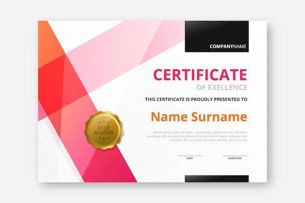 Certificado elegante degradado