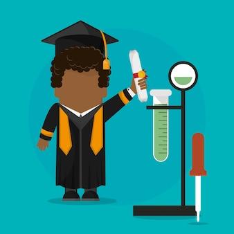 Certificado de estudiante de posgrado con la escuela de ciencias testt tube