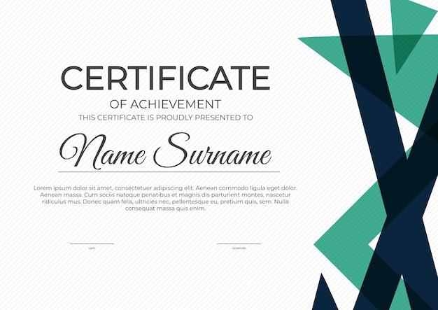 Certificado, fondo de plantilla de diploma.