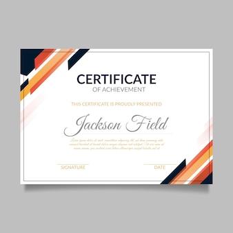 Certificado geométrico abstracto