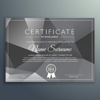 Certificado geométrico gris