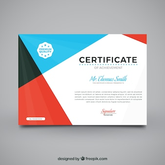 Certificado de graduación con diseño abstracto