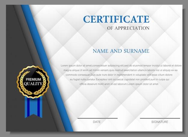 Certificado de gratitud elegante