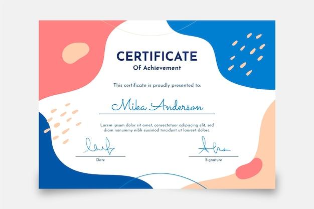 Certificado de logro plano moderno