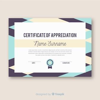 Certificado moderno de agradecimiento
