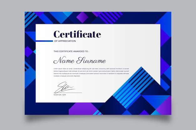 Certificado moderno degradado