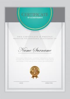Certificado de plantilla de diploma, ilustración vectorial