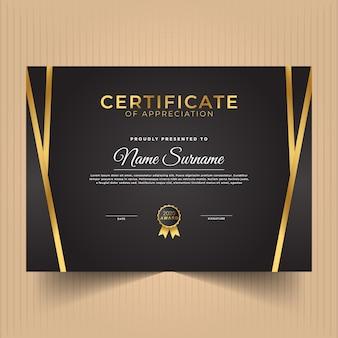 Certificado de plantilla de diseño de apreciación