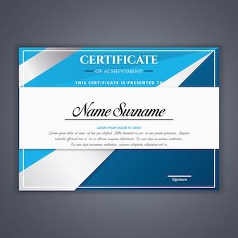 Certificado de plantilla de logros